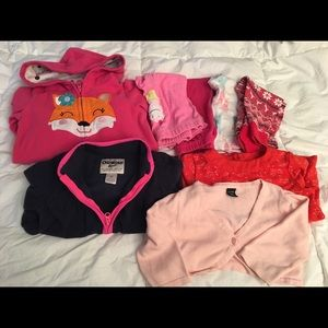 Mix lot of baby girl 18-24m/2T winter fall clothes